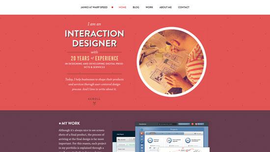 jankoatwarpspeed.com site design