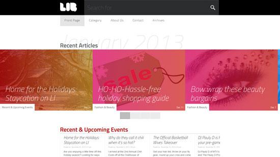 libmagazine.com site design