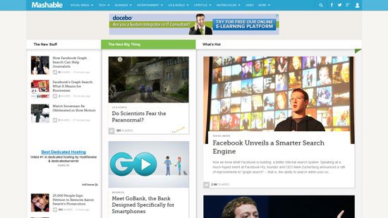 mashable.com site design