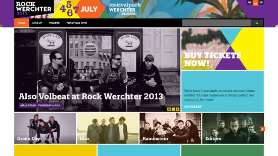 rockwerchter.be site design