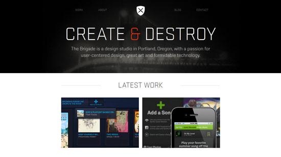 thisisthebrigade.com site design