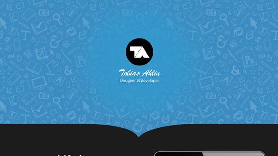 tobiasahlin.com site design