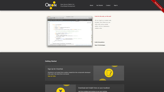 Orion: Open Source Platform For Cloud Based Development