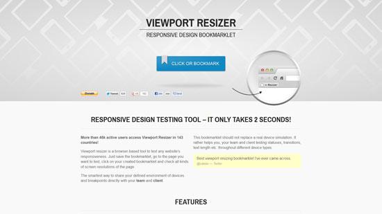 Responsive design testing tool