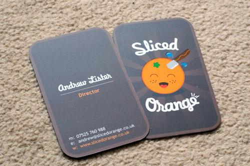 Sliced Orange Round Corners Business Card