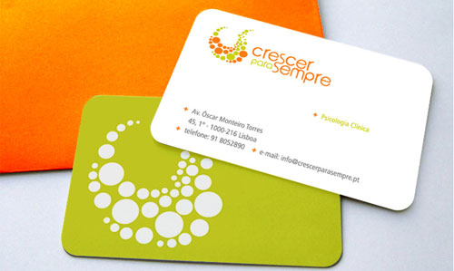 Well Designed Round Corners Business Cards