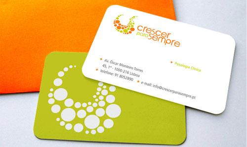 Crescer para Sempre Round Corners Business Card