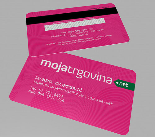 Moja-trgovina Round Corners Business Card
