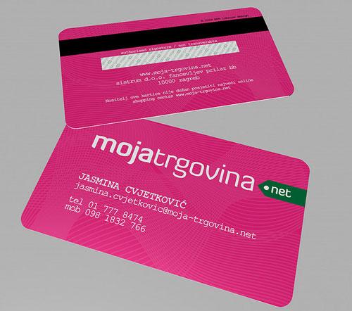 Moja-trgovina Round Corners Business Card