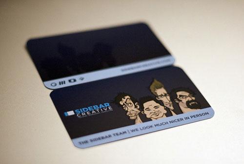Sidebar Creative Round Corners Business Card