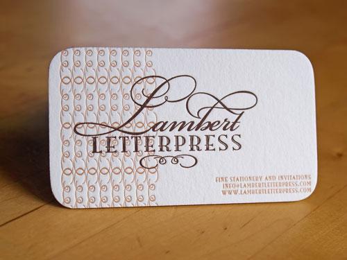 Lambert Letterpress Round Corners Business Card