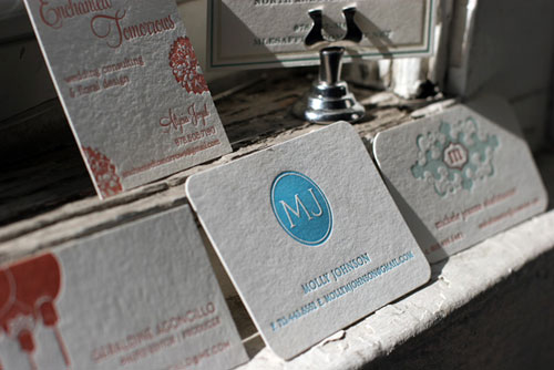 Molly Johnson Round Corners Business Card