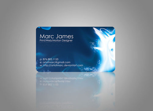 Art of Marc Round Corners Business Card