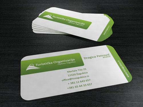 TO Zagubica Round Corners Business Card