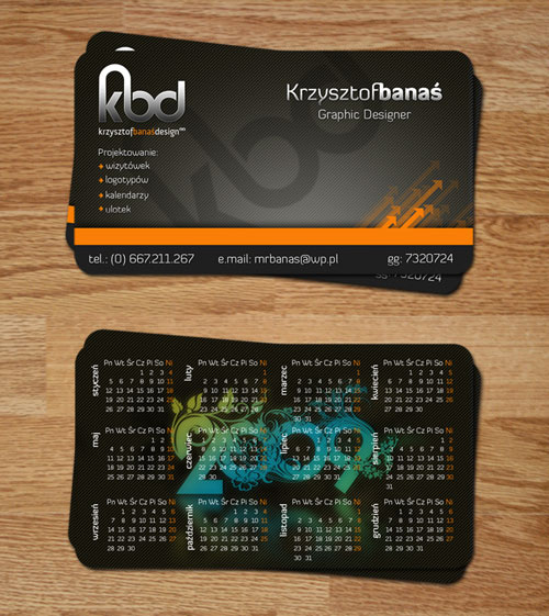 Krysztof Banas Round Corners Business Card