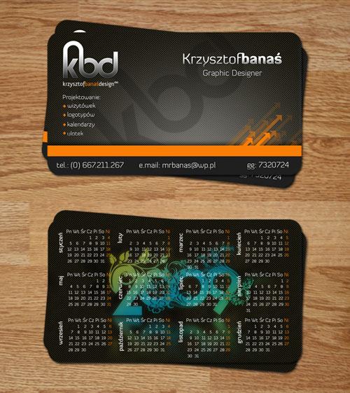 Krysztof Banas Round Corners Business Card