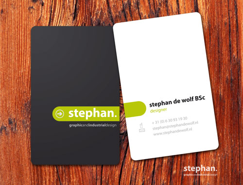Stephan De Wolf Round Corners Business Card