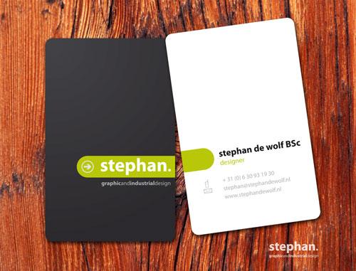 Stephan De Wolf Round Corners Business Card