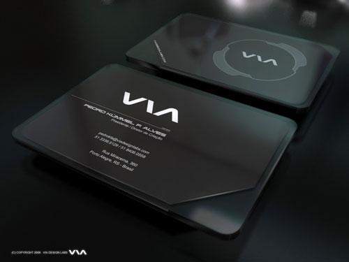 VIA  Round Corners Business Card