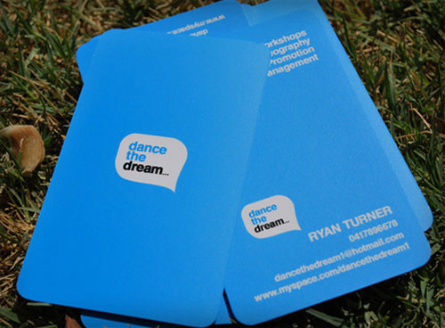 Dance the Dream Round Corners Business Card
