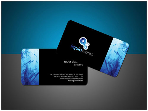 LiquidWorks Round Corners Business Card