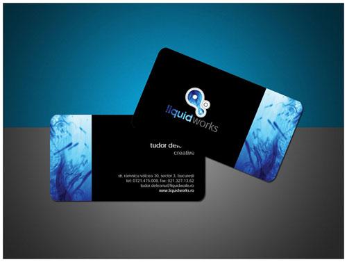 LiquidWorks Round Corners Business Card