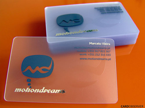 Motion Dreams Round Corners Business Card