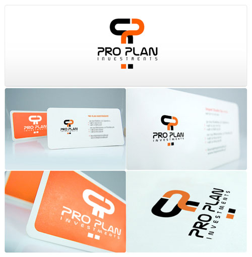 Pro Plan Investments Round Corners Business Card