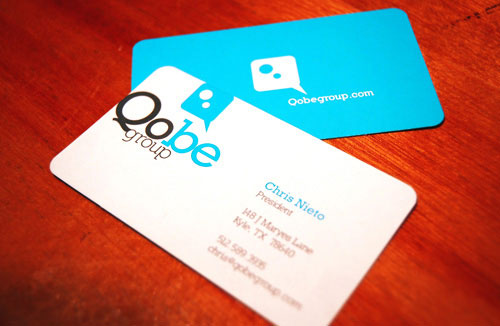 Qobe Group Round Corners Business Card