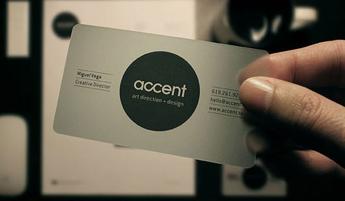 accent Round Corners Business Card