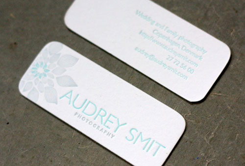 Audrey Smit Round Corners Business Card