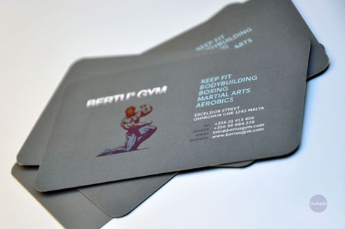 Bertu's Gym Round Corners Business Card