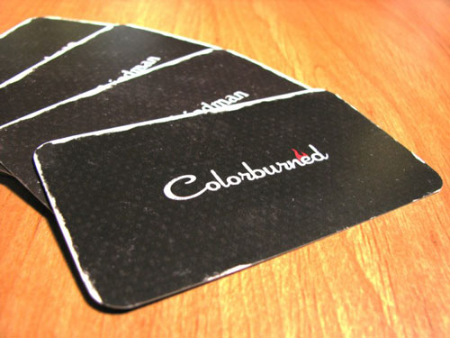 colorburned Round Corners Business Card