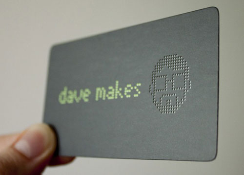 Dave Makes Round Corners Business Card