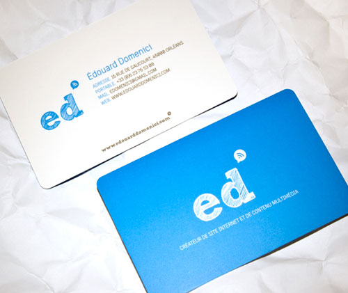 Edouard Domenici Round Corners Business Card