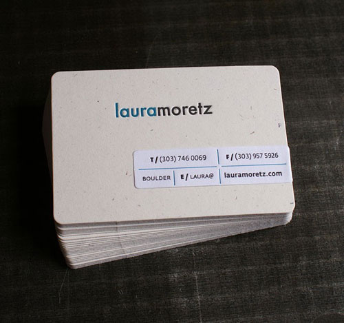 Laura Moretz Round Corners Business Card