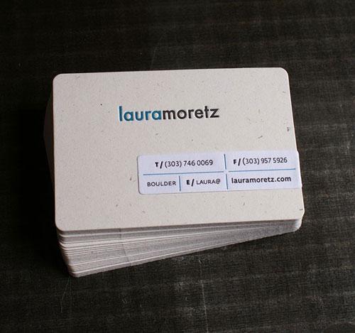 Laura Moretz Round Corners Business Card