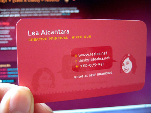Lea Alcantara Round Corners Business Card