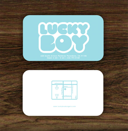 Lucky Boy Round Corners Business Card