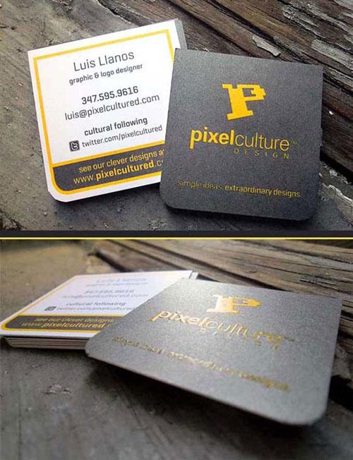 Luis Llanos Round Corners Business Card