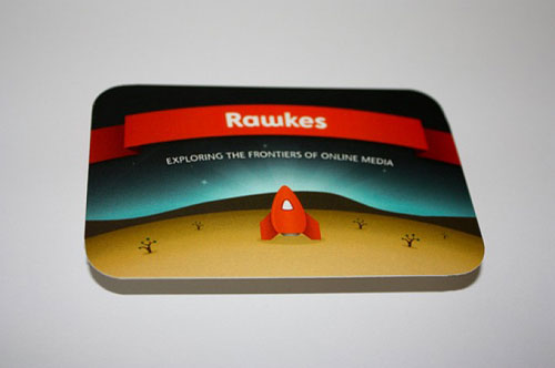 rawkes Round Corners Business Card