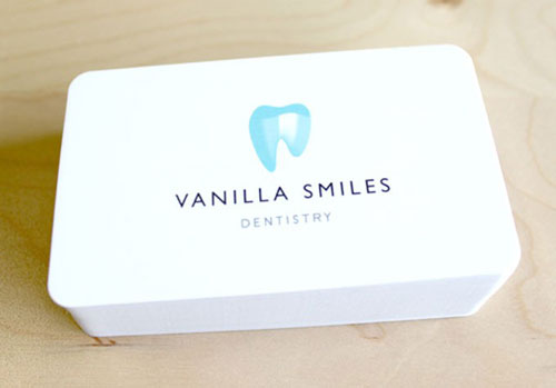 Vanilla Smiles Round Corners Business Card