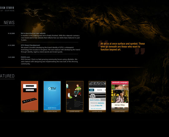 depthskins.net Flash Site Design Inspiration