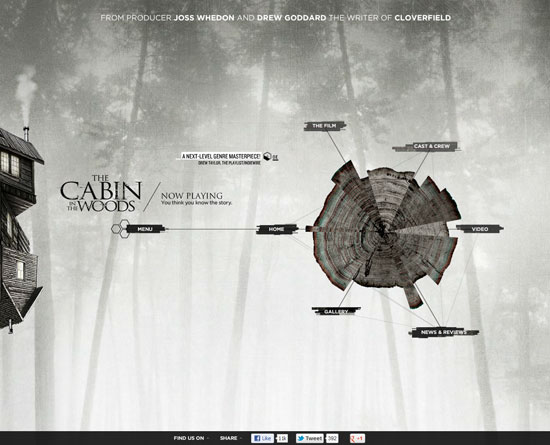 discoverthecabininthewoods.com Flash Site Design Inspiration
