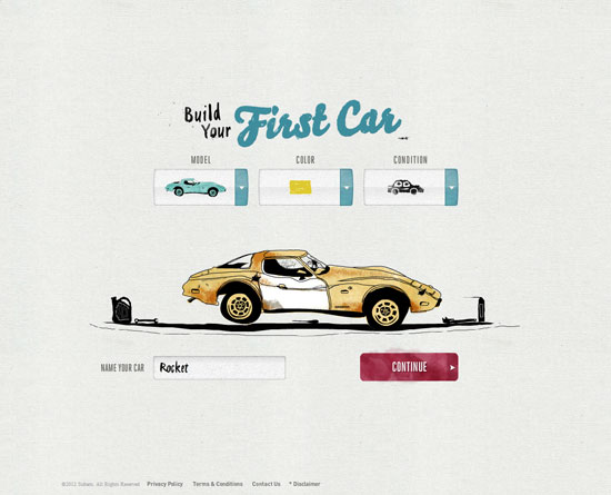 firstcarstory.com Flash Site Design Inspiration