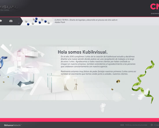 kubikvisual.com.ar Flash Site Design Inspiration