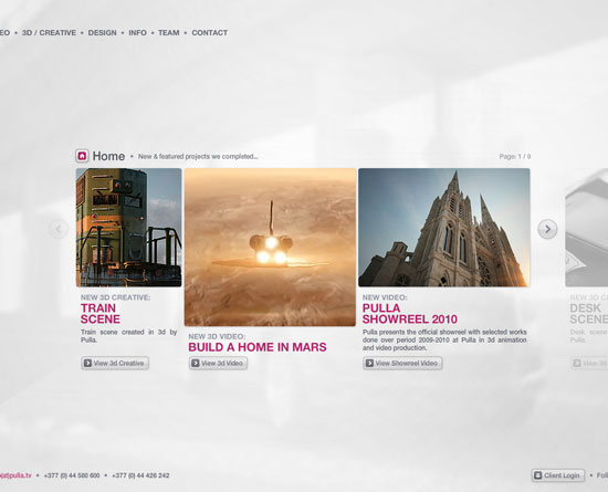 pulla.tv Flash Site Design Inspiration