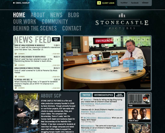 stonecastlepictures.com Flash Site Design Inspiration