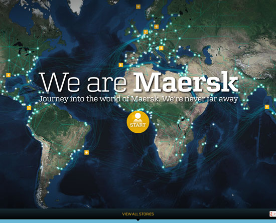 wearemaersk.com Flash Site Design Inspiration