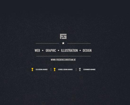 fredericchristian.de Site Design
